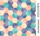 hexagon grid seamless vector... | Shutterstock .eps vector #1022219872