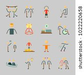 icons about human with olimpic... | Shutterstock .eps vector #1022220658
