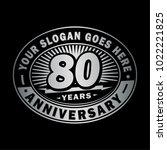 80 years anniversary....   Shutterstock .eps vector #1022221825