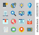 icons about seo with idea  type ... | Shutterstock .eps vector #1022222872