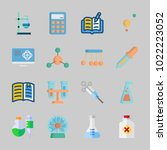 icons about science with... | Shutterstock .eps vector #1022223052