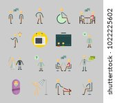 icons about human with... | Shutterstock .eps vector #1022225602
