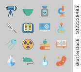 icons about science with mortar ... | Shutterstock .eps vector #1022228485