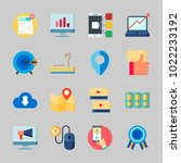 icons about seo with quality ...   Shutterstock .eps vector #1022233192