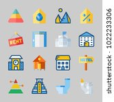icons about construction with... | Shutterstock .eps vector #1022233306