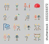 icons about human with working  ... | Shutterstock .eps vector #1022233372