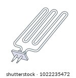 metal pipe radiator icon | Shutterstock .eps vector #1022235472
