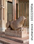 lion of the cathedral  modena ... | Shutterstock . vector #1022235856