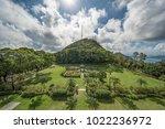 hong kong victoria peak garden   Shutterstock . vector #1022236972