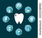 dental tooth vector on a dark...   Shutterstock .eps vector #1022238982