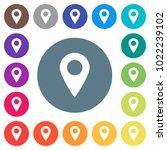 blank gps map location flat... | Shutterstock .eps vector #1022239102