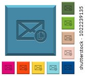 copy mail engraved icons on... | Shutterstock .eps vector #1022239135