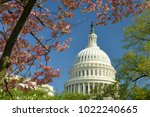 us capitol building among... | Shutterstock . vector #1022240665