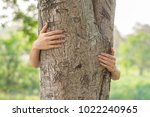 love nature concept  woman give ... | Shutterstock . vector #1022240965