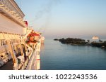 the row of cruise liners...   Shutterstock . vector #1022243536