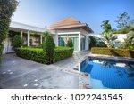 interior and exterior design of ... | Shutterstock . vector #1022243545