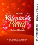 illustration of valentines day... | Shutterstock .eps vector #1022244112