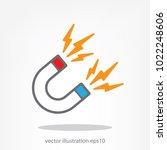 magnet icon vector   Shutterstock .eps vector #1022248606