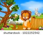 vector illustration of lion...   Shutterstock .eps vector #1022252542