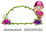 vector illustration of frame of ...   Shutterstock .eps vector #1022255122