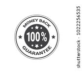 money back guarantee with 100... | Shutterstock .eps vector #1022256535
