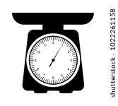 domestic weigh scales icon.... | Shutterstock .eps vector #1022261158