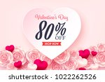 valentine special offer and... | Shutterstock .eps vector #1022262526