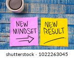 new mindset new result. self... | Shutterstock . vector #1022263045
