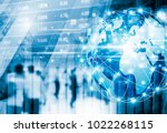 stock market concept design of... | Shutterstock . vector #1022268115