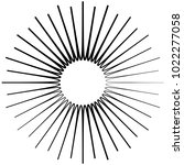 geometric radial element.... | Shutterstock .eps vector #1022277058