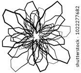 geometric radial element.... | Shutterstock .eps vector #1022277682