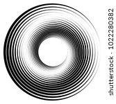 geometric radial element.... | Shutterstock .eps vector #1022280382