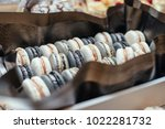 macarons  in a beautiful box | Shutterstock . vector #1022281732