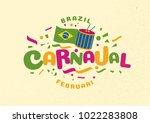 brazil carnival moment 2018... | Shutterstock .eps vector #1022283808
