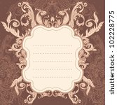 vintage background  baroque... | Shutterstock .eps vector #102228775