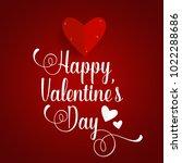 valentines day background... | Shutterstock .eps vector #1022288686