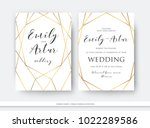 wedding double invite ... | Shutterstock .eps vector #1022289586