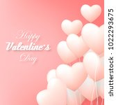 vector valentine and hearts...   Shutterstock .eps vector #1022293675