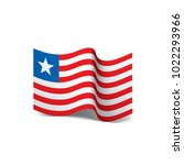 liberia flag  vector... | Shutterstock .eps vector #1022293966