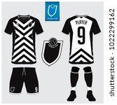 soccer jersey  football kit  t... | Shutterstock .eps vector #1022299162