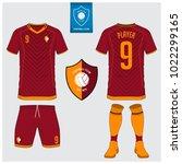 soccer jersey  football kit  t... | Shutterstock .eps vector #1022299165