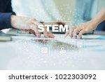 stem. science technology... | Shutterstock . vector #1022303092
