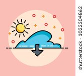 cloud illustrations and down... | Shutterstock .eps vector #1022304862