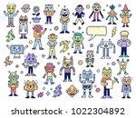 funny wacky doodle unusual... | Shutterstock .eps vector #1022304892