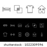 pack icon set and cloth with...