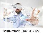 organisation structure. people... | Shutterstock . vector #1022312422