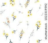 trendy yellow wind blowing ... | Shutterstock .eps vector #1022319592