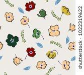 floral seamless pattern...   Shutterstock .eps vector #1022319622