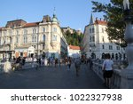 ljubljana  slovenia   august 18 ... | Shutterstock . vector #1022327938