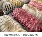 ice cream for cones showcase... | Shutterstock . vector #102233275